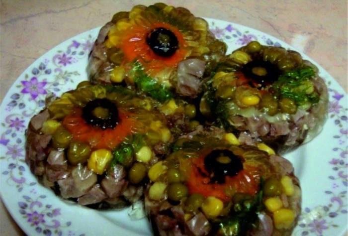 заливное из свиного языка с желатином рецепт с фото